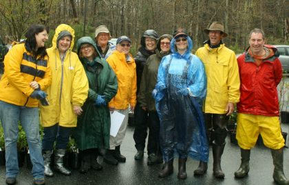 Our volunteers who unloaded and set up plants in the pouring rain on Friday morning