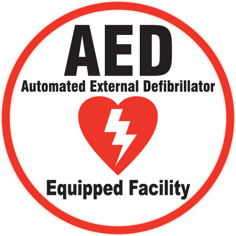 AED onsite