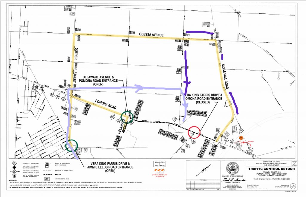 alternate routes during road work August 2021